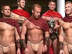 Hot gladiators in 4 hardcore fuck