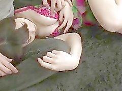 Busty Honami Uehara hakkında ciddi pussy stimülasyonu