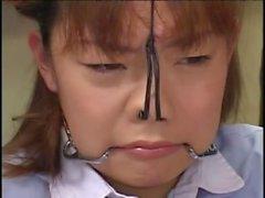 Japanische Babe mit einem Fetisch spritzte mit cum