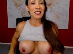 Denise på webbkamera 8-13-2015