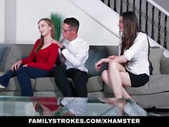 FamilyStrokes - Stepsiblings Fix Their Relationship With Sex