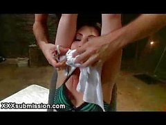 Guy tied up babe in basement