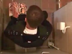 Polish Guy jacking off in the public toilet