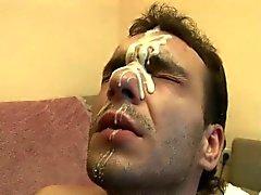 Групповое семяизвержение на лицо гей анальный Сперма Blast