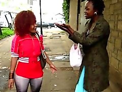 Kiimainen ja Afrikkalainen sluts Kuumaa Lesbo Toimenpide