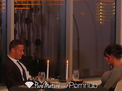 PureMature - Горячие ИФОМ Пета Jensen свечах ужин ебать