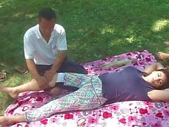 Massagem chinesa no parque