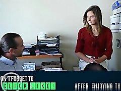 Sedutor Menina de escritório de do Virgin Shyla da Ryder chega anally fodido