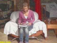 Cute girl ceco Traduttore fa leccare e scopata di primo COLATA