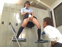 Sehr schöner japanisches weißes Nylon Panty Job (zensiert)