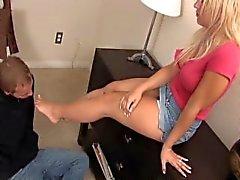 femdom foot kissing