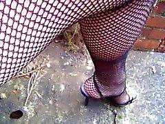 Visnetten panty dichten en upskirt