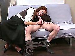 Ginette milf rossa deepthroated