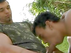 Military Beefy Gay Outdoor Fucking
