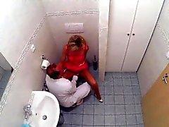 FakeHospital loura começ creampied depois porra in toilet
