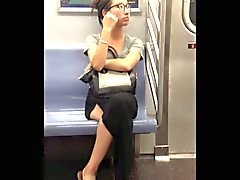 NYC subway voyeur asian