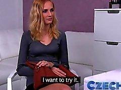 Czech blond gärna det grov i Casting intervju