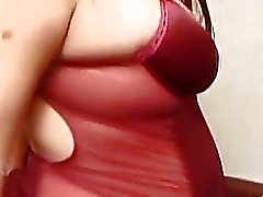 Juicy pregnant girlfriend in hot lingerie