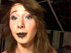 Zoie smoking #4 - goth makeup