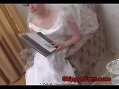 Brud knullade framför henne bröllop