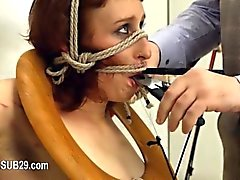 BDSM extremo higiénico Hooker cogió anal con fuerza