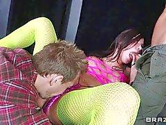 Aleksa enjoys in getting nailed in threesome