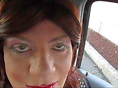 Противная , жестокого Устное Gloryhole минет с телевизора CD Sissy