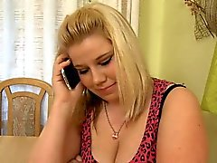 Fatty feels better after his big dick