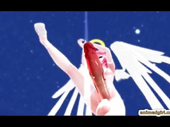 Huge cock redhead 3D anime shemale dancing
