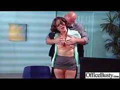 Sexo duro com os melharucos redondos grandes Menina de escritório impertinente da vagabunda (krissy lynn) movie-21