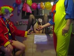 Videor Cam4 två Clowner Pain När OhMiBod Tysk Camgirl Kikrak