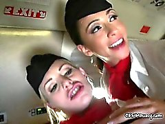 Two Sürtük Flight Attendants Slamming Yolcu