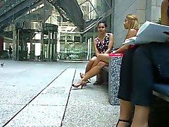 Franka Otro Ben & Feet Shoeplay av blonda PT ett