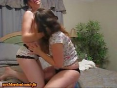 Hot young amateur teen lesbians kissing and stripping