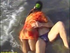 orgie de sexe indien sur la plage