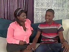 Black Mann und schwarze Frau