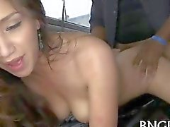 Aficionados bang bus humped con gallo negro