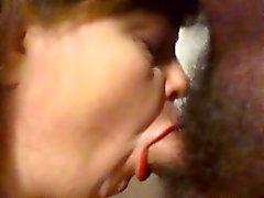 Sperma hänger lös frun sucking och sats svala