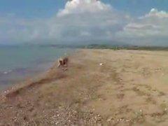 deniz yoluyla Plajda İtalyan