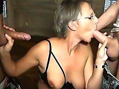 French maturo di Sophie la doppia penetrazione