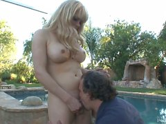 Big tit blonde with dick Jesse Flores fucks a Man