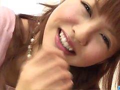 Fuerte facial forRika Sakurai después de mamada caliente