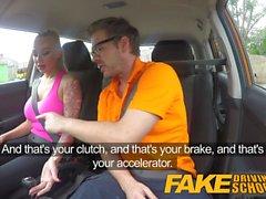 Fake Driving School Big Tits babe folla a su instructor