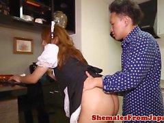 Purificateur d'uniformes asiatique cockriding after bj