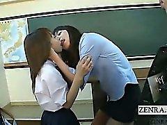 Sottotitolate giapponesi schoolgirls intervista insegnante di baciare