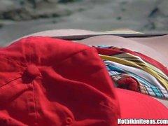 Большие сиськи Topless Beach Babes Солярий Голый пляж Voyeur HD