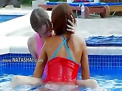 subtle pool masturbation of friends