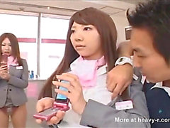 Mannequin defiance at mobile store of japan