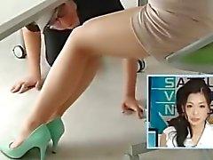 Japanese девочки Погода на колготок ступни лизал
