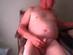 Großvater auf Webcam